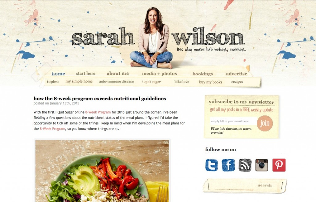 BLOGS I DIG :: Sarah Wilson says her blog makes 'life better, sweeter' and I would have to agree wholeheartedly, her blog is the first one I ever religiously read and is the reason why I wanted to start my own blog. www.oneinfinitelife.com/blogs-i-dig-2/