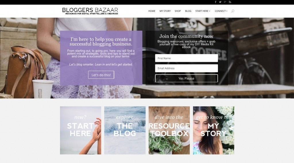 """Bloggers Bazaar is a """"mix of strategies, tools and tips to stand out and create a successful blog on your terms."""" http://www.bloggersbazaar.com.au"""