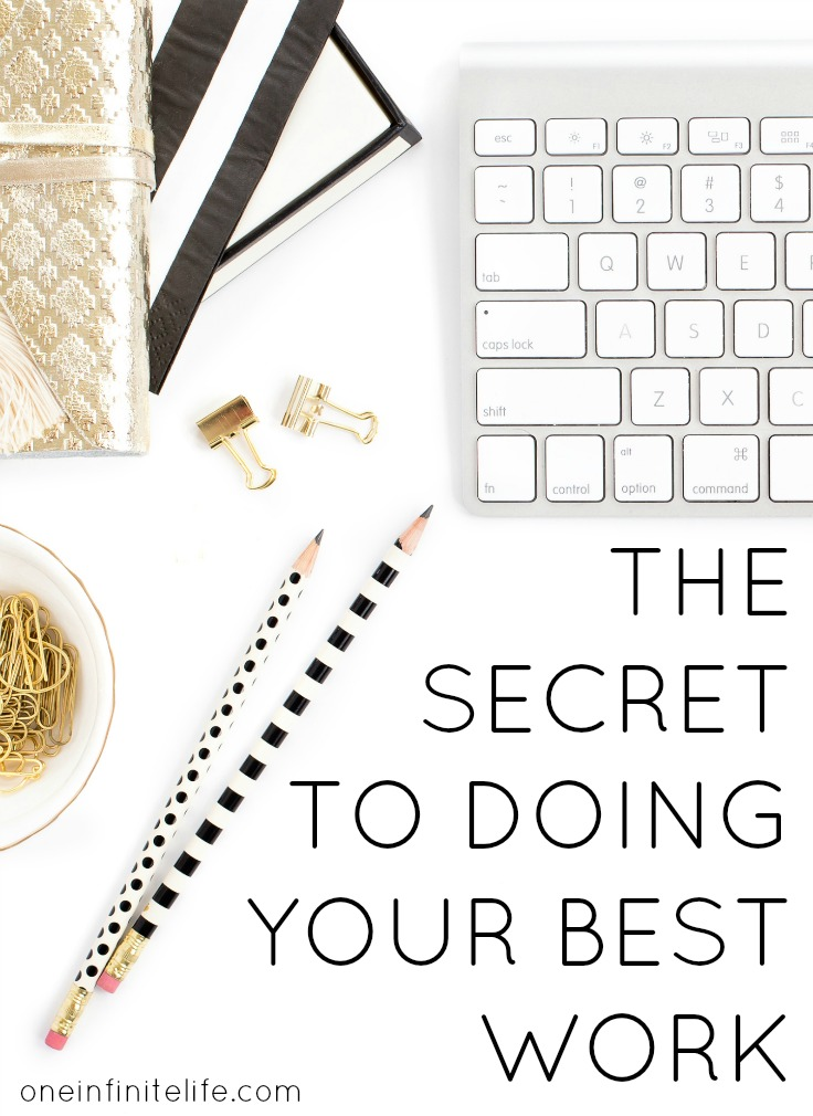 I took an unintentional break from blogging and this is what I learnt... http://oneinfinitelife.com/the-secret-to-doing-your-best-work