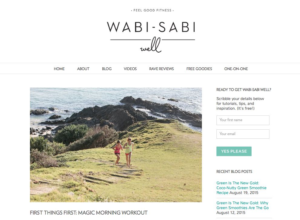 The Wabi-Sabi Well Magic Morning Workout is fun, peaceful — and the most energising and divine way to start the day.