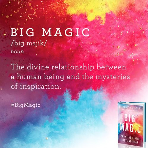 Elizabeth Gilbert's new book Big Magic: Creative Living Beyond Fear is pure gold! I haven't even finished it yet and I know that it's going to be one of my all-time favourite books. http://oneinfinitelife.com/the-gratitude-diaries-11/