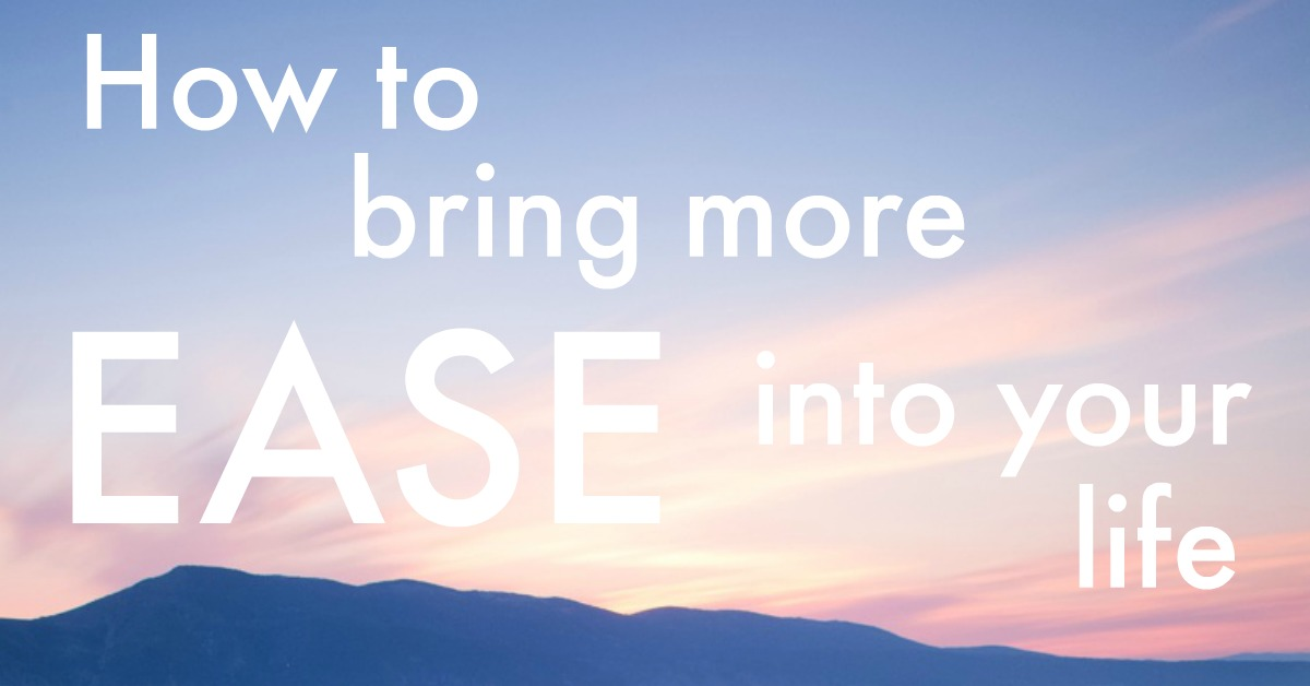 Want more EASE in your life? Here are 10 ways to do that, with heaps of examples and practical tips from my own life + insights from others http://oneinfinitelife.com/how-to-bring-more-ease-into-your-life