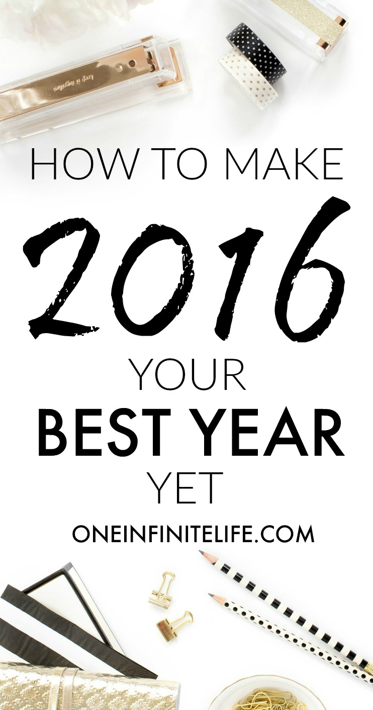 Want to make 2016 your best year yet? Here's 13 ways to do make this year AMAZING for you, which include awesome resources that have made my life better, actionable tips and super useful links, and examples and insights from my own life. Plus an opportunity to join me for a FREE workshop! Read it here: http://oneinfinitelife.com/how-to-make-2016-your-best-year-yet/