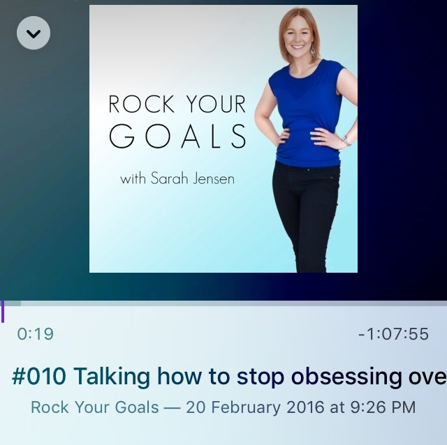 Rock Your Goals podcast with Sarah Jensen