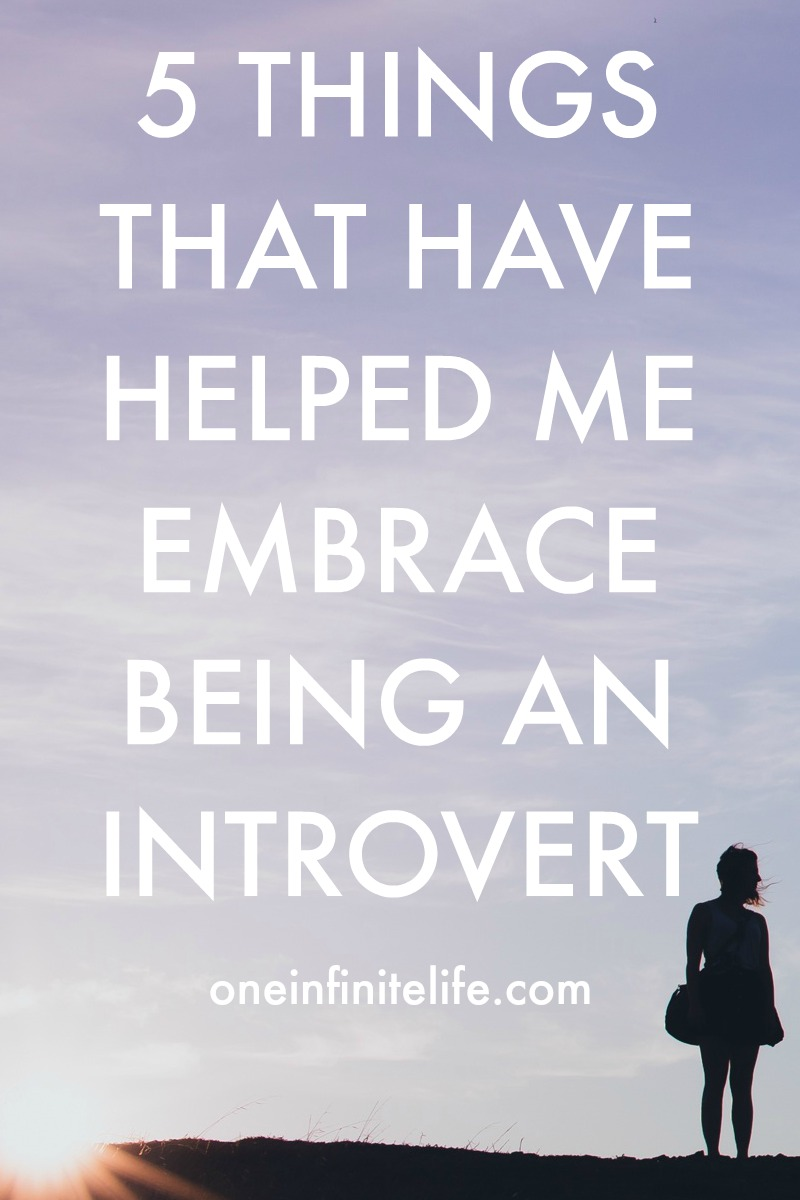 I truly believe that you can be an introvert and be anything you want. And being an introvert doesn't have to hold you back in any aspect of your life — if you don't want it to. Here are 5 of the things that have gotten me to a place where I really embrace my introverted nature and feel empowered by it http://oneinfinitelife.com/embrace-being-an-introvert/