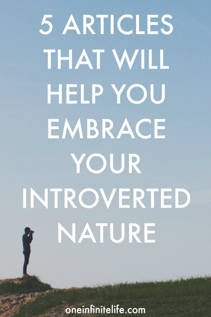 There were stories and insights into what being an introvert has been like for me, resources that have helped me to understand and honour my introverted nature, tips that have helped me to embrace this part of myself and interviews with other introverts. In the spirit of celebrating introversion, here's a recap of all the posts shared during Introvert Week http://oneinfinitelife.com/recap-of-introvert-week/