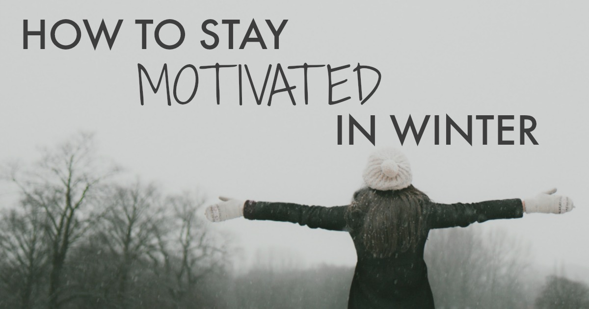 Winter can be a challenging time to stay motivated and get things done. If you're struggling to stay motivated this winter, click through for 6 tips to help you with your motivation this time of year // http://oneinfinitelife.com/how-to-stay-motivated-in-winter/