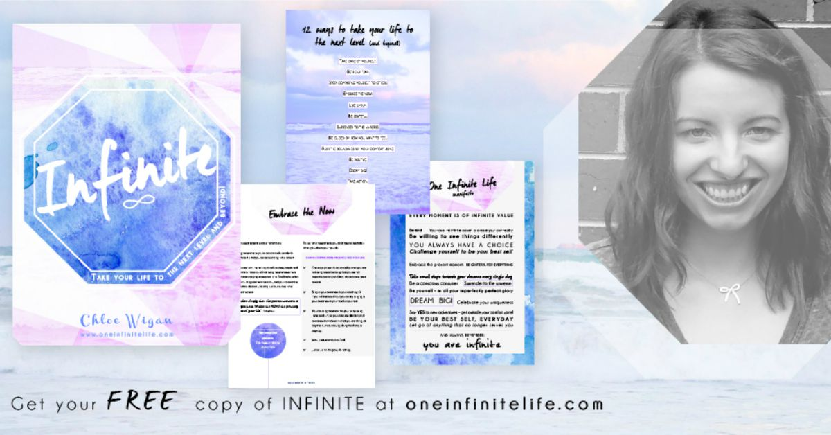 The Infinite Collection is a FREE (and growing) library of resources to help you get the most out of your one infinite life. There's currently an epic eBook, worksheets, workbooks, audios and more! Get access here...