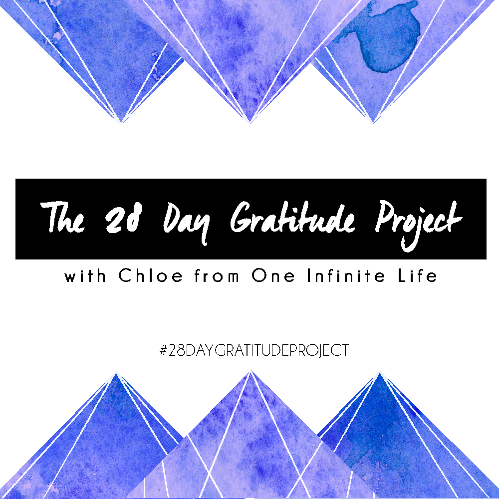 The 28 Day Gratitude Project is a daily email course that will guide you through experimenting with gratitude for 28 days and ultimately help you to explore how you can add more gratitude into your life — in a way that works best for you. Find out more & enrol here: https://oneinfinitelife.com/the-28-day-gratitude-project/
