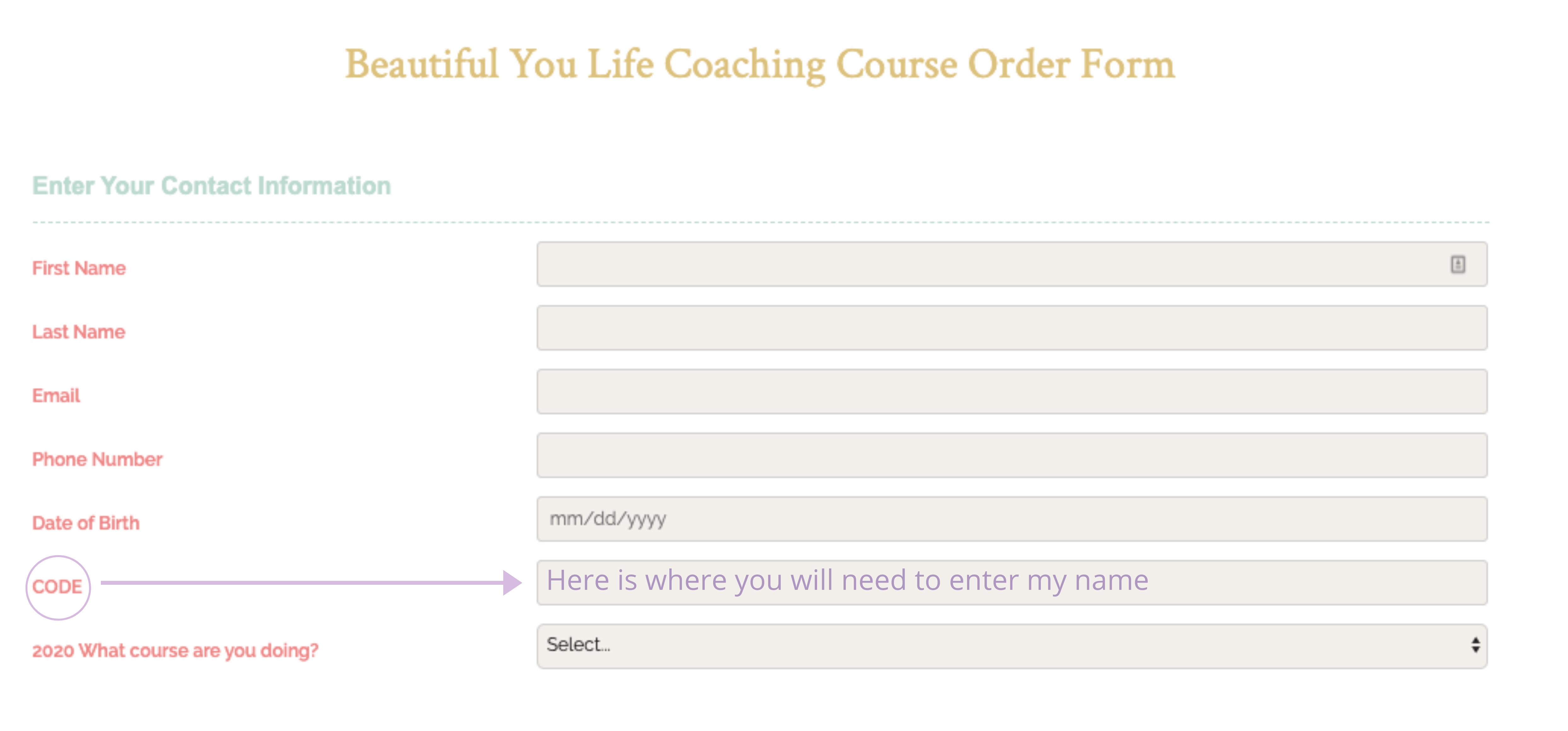 How to enrol in the Beautiful You Coaching Academy