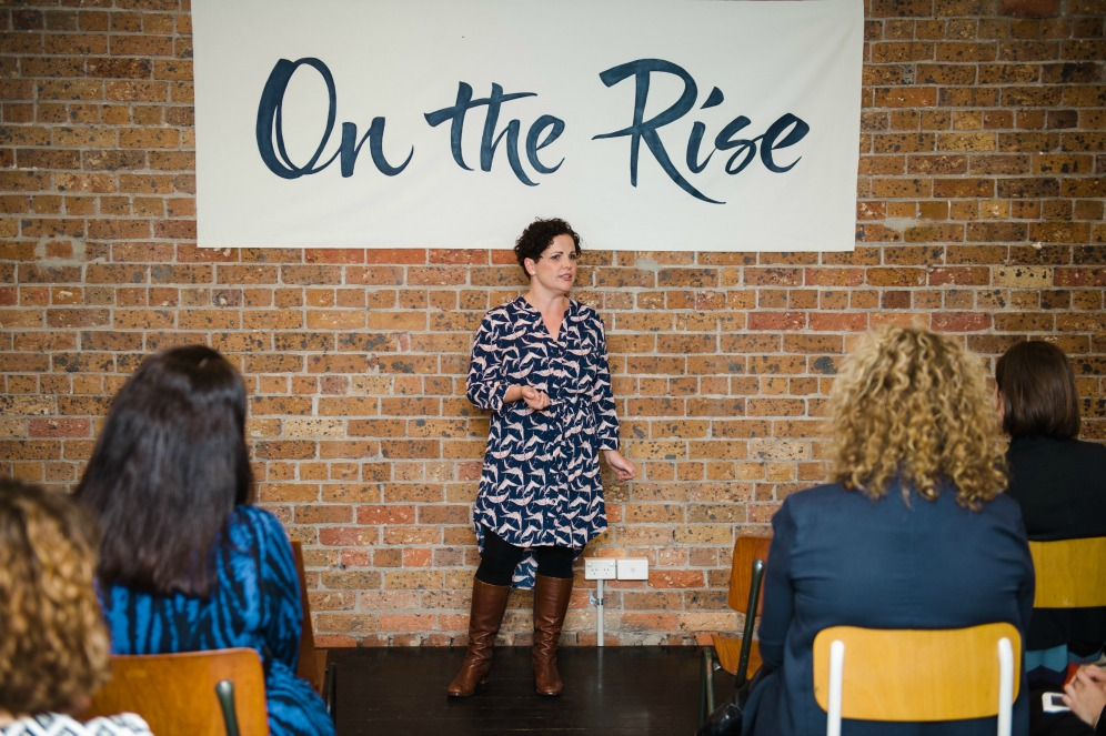 Naomi Morrow speaking about embracing uncertainty at the On The Rise Speaking Event on November 24th https://oneinfinitelife.com/on-the-rise-speaking-event/