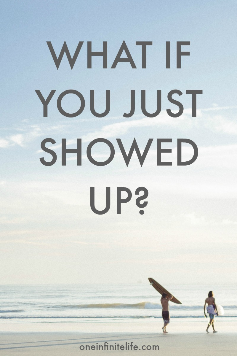 If you're wanting to commit to something new, or make a change in your life, or form a new habit, what if you just showed up? https://oneinfinitelife.com/what-if-you-just-showed-up/ ‎