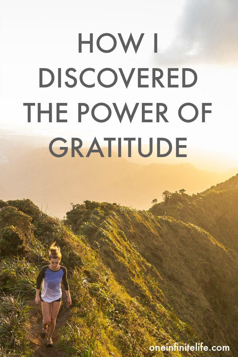 A story about how a challenging time in my life helped me to discover how powerful practicing gratitude could be https://oneinfinitelife.com/thats-the-power-of-gratitude/ ‎